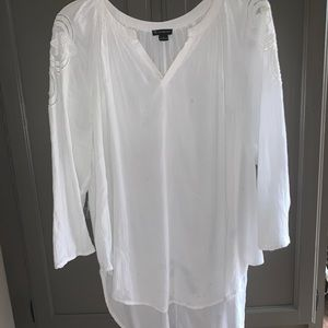 New Direction White Blouse size Large